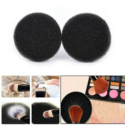 2Pcs Color Makeup Brush Clean Eye Shadow Sponge Cleaner Tool Switch Cosmetic Fj