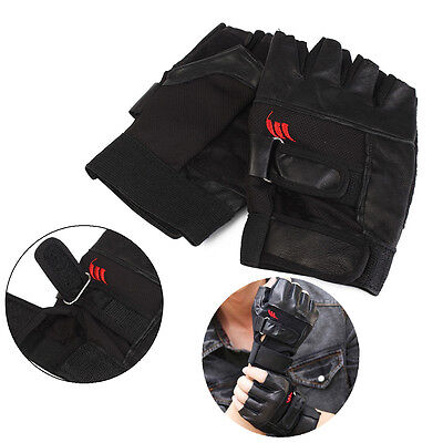Men Weight Lifting Gym Exercise Training Sport Fitness Sports Leather Gloves IU