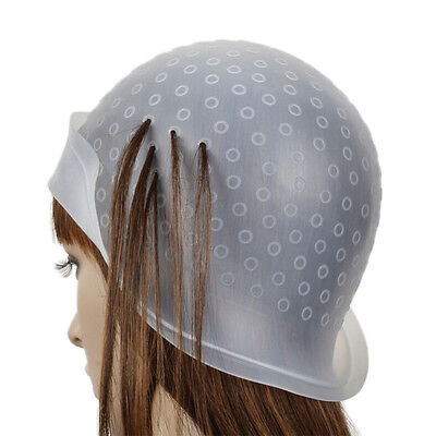 Reusable Silicone Dye Hat Cap for Hair Color Highlighting Hairdressing Meal LAUS
