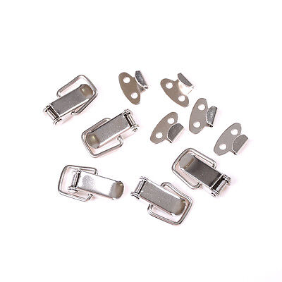 5Pcs J107 Hardware Cabinet Boxes Spring Loaded Latch Catch Toggle Steel Hasp CL