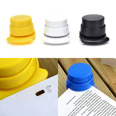 1x Office Home Staple Free Stapleless Stapler Paper Binding Binder Paperclip Gx