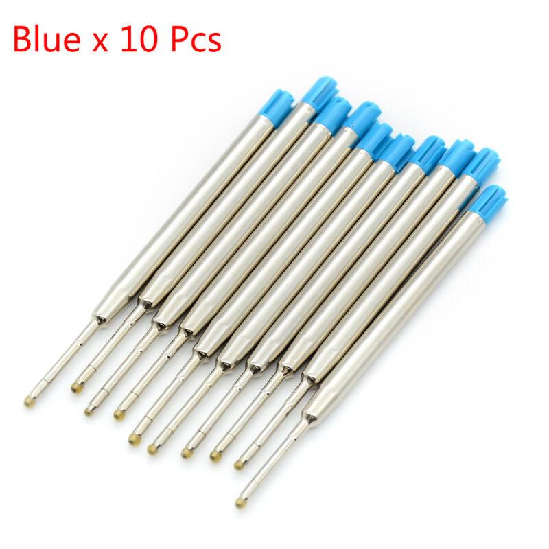 10 Pcs blue ink parker style standard 1.0mm ballpoint pen refills nib medium RF Blue