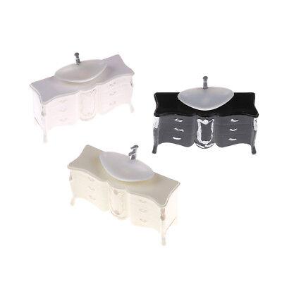 Dollhouse Mini Furniture Bathroom Cabinet Washbasin Model Landscape Toy