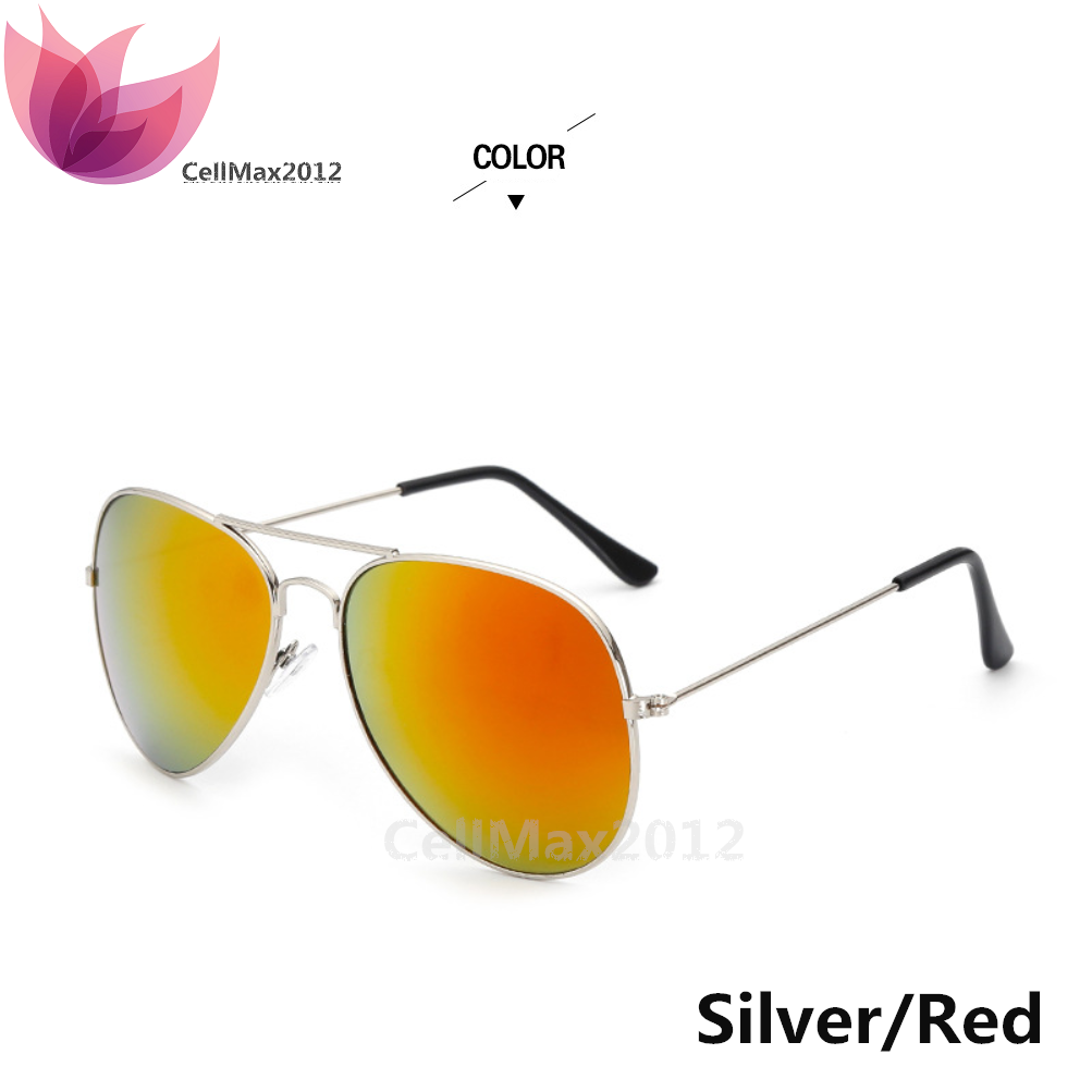 Silver / Red Lens