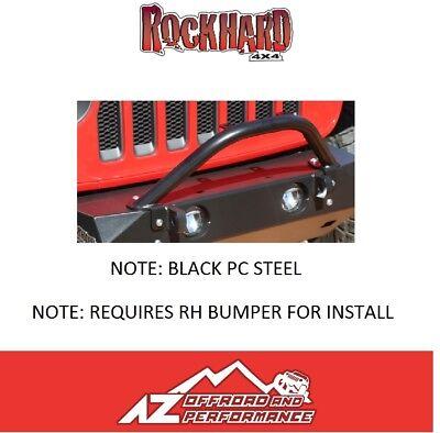 Rock Hard 4X4 Stubby Winch Guard Light Tabs 18-20 Jeep Wrangler JL 90208 STEEL