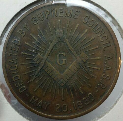 1930 Scottish Rite Cathedral Valley Of Moline IL Freemason Coin Token Supreme