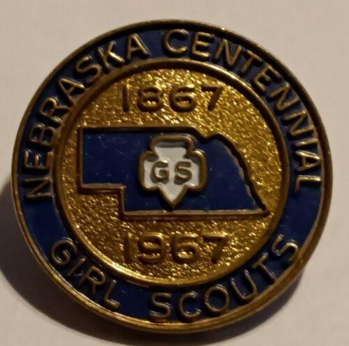 Girl Scout Pin Nebraska Centennial 1867-1967 size 11/16 inch