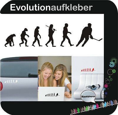 Eishockey Hockey Evolution Wandaufkleber Sticker Folie Wandtattoo Aufkleber W405