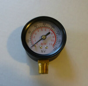 New-Air-Pressure-Gauge-0-160-PSI-1-4-NPT-With-2-Face