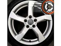 """17"""" Genuine Audi A3 S Line alloys Golf Caddy Leon excel cond Continental tyres."""