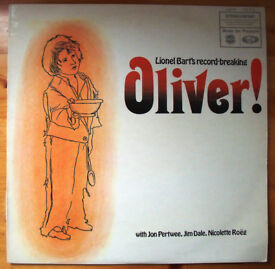 Lionel Bart's 'Oliver!' stereo LP, record, vinyl. 1966. 'Food Glorious Food', etc. £5 ovno