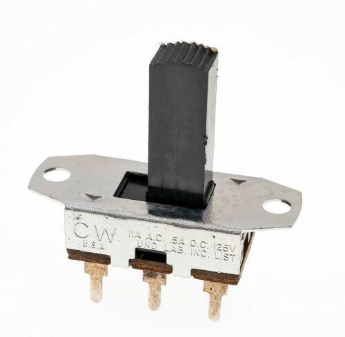 Lot of 10 CW GF-1126 DPDT Standard Slide Switch 11A/125VAC 0.5A/125VDC NOS