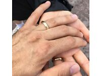 Golden wedding ring with inscription 'Linda & Tobias 22.07.2017' lost on 19/10/2017