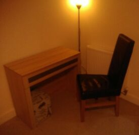 Desk, chair, lamp, footstool - Collection only