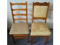 Various Chairs to Reupholster or Upcycle, £5 each