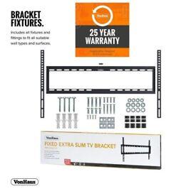 VonHaus 37-70 TV WALL BRACKET ULTRA SLIM Inch 55 65 60 40 47 BRAND NEW Cold Rolled Steel