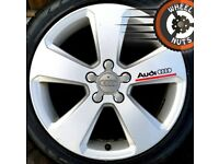 """17"""" Genuine Audi A3 Sport alloys good cond excel tyres."""