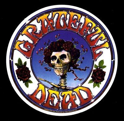 Grateful Dead Skull & Roses Sticker Decal Jerry Garcia Hippie Biker Rock n Roll - Dead Rose