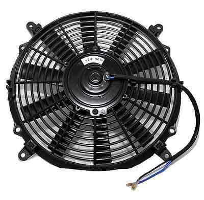 12 Universal Slim Line Radiator Fan 12 volts 80w Sealed Motor