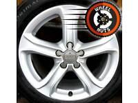 "17"" Genuine A4 Audi Techniks alloys VW Caddy Golf excel cond excel tyres."