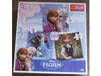 """Disney """"Frozen"""" 3-in-1 Puzzle Set - suits 4 to 7 years & upwards - £5 o.n.o"""