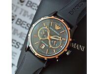 Emporio Armani Gents Chronograph Watch Model AR0584 (New)