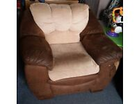 Free leather and brown arm chair