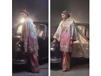 New Rungrez Inspired 3pcs Stitched Lawn Suit with Digital Printed Silk Dupatta in M,L,XL Sizes