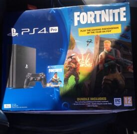 PlayStation 4 Pro 1 TB with Fortnite Brand New