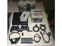 Xbox 360 250gb with 12 games and extra controller