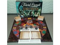 Lord of The Rings Trivial Pursuit dvd board game most contents still sealed