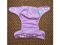 Charlie Banana One Size Cloth Nappy with 2 inserts | LAVENDER | £20 | GREAT CONDITION | Rawmarsh