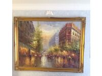 Large beautifully framed painting LESS THAN HALF PRICE