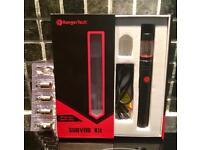 KangerTech SUBVOD vaping starter kit with 4 Clapton Coils