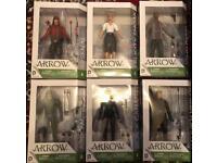 A Collection of 6 Dc icons Arrow TV Season 3 Figures