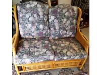 Cane sunroom sofa