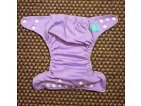 Charlie Banana One Size Cloth Nappy with 2 inserts | LAVENDER | £20 | GREAT CONDITION | Leeds