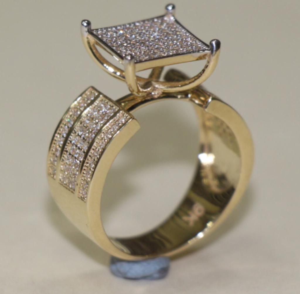 9 CT Gold Ring Gents FULL CZ STONES | in Norbury, London | Gumtree
