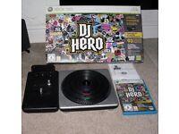 Microsoft XBox 360 DJ Hero Game & Turntable Controller Boxed