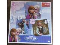 """Disney """"Frozen"""" 3-in-1 Puzzle Set & Memory Game - for 3 to 7 years & upwards - £7 for both"""