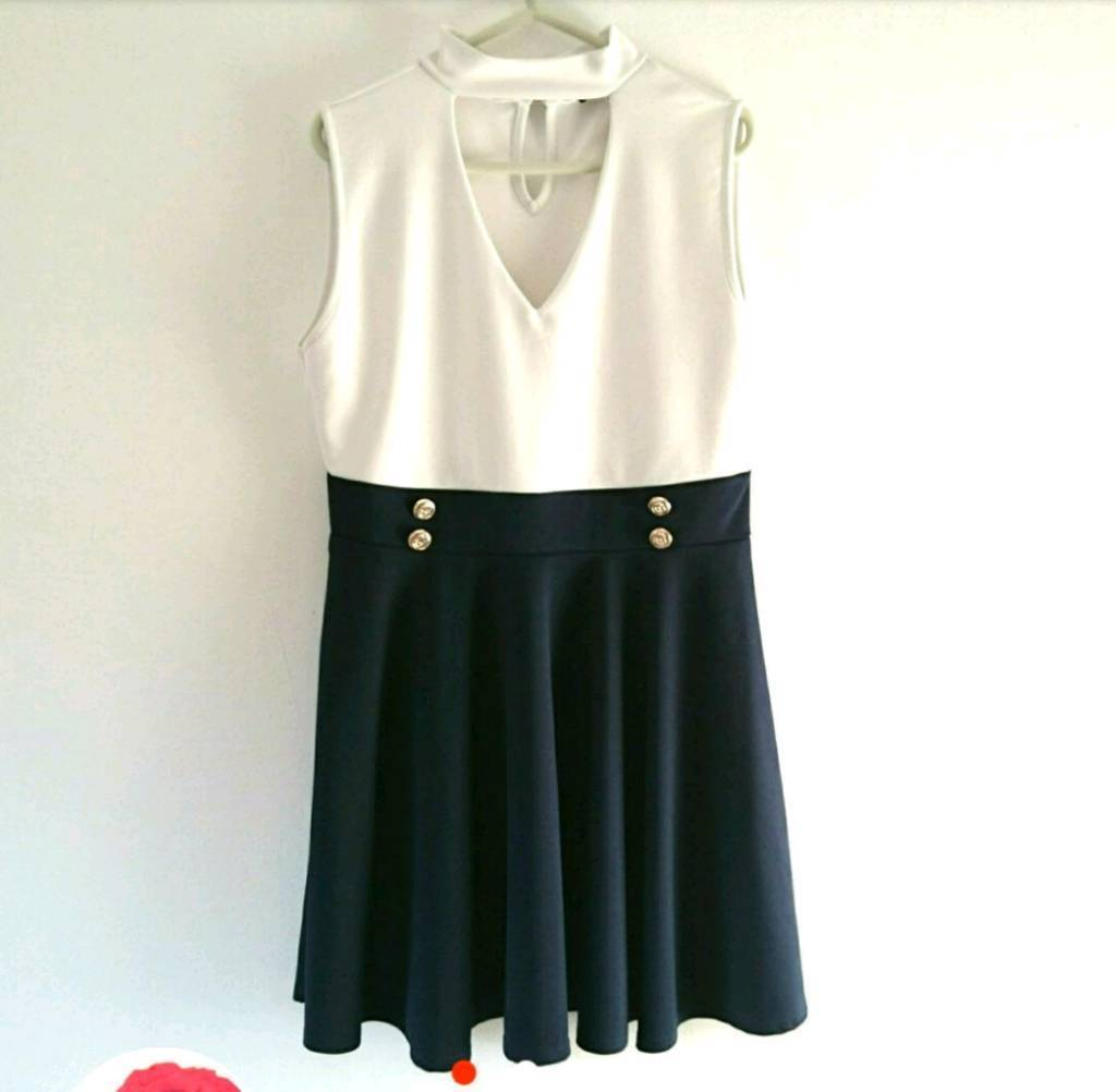QUIZ nautical style dress, size 16!