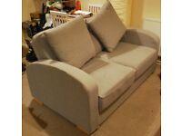 Nabru two seater medium sofa, Lisbon Silver (grey), 1 year old