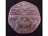 The Battle of Britain 50p coin
