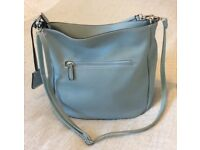 Handbag, David Jones, brand new (without tags) shoulder, Hobo style in pale blue. Faux leather.