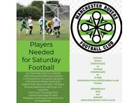 Players Needed for Saturday Morning Football Team.