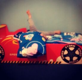 Childs car shaped toddler bed