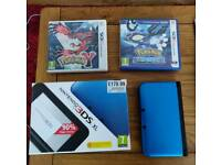 Nintendo 3DS XL Blue with Pokémon Y and Alpha Sapphire