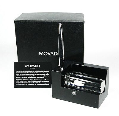 Movado Museum Business Card Holder With Metal Pen Dbk000212m 150.00 New Box