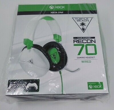 XBOX ONE Turtle Beach Ear Force Recon 70 Gaming Headset Wired Green & White