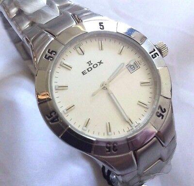 Edox Men's Stainless Steel Swiss watch 70140 3 AIN